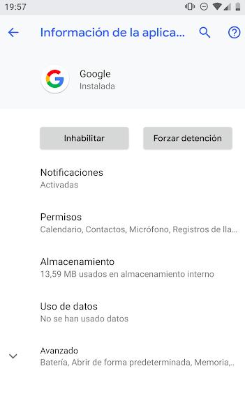 app de google sigue sin funcionar en android solucion
