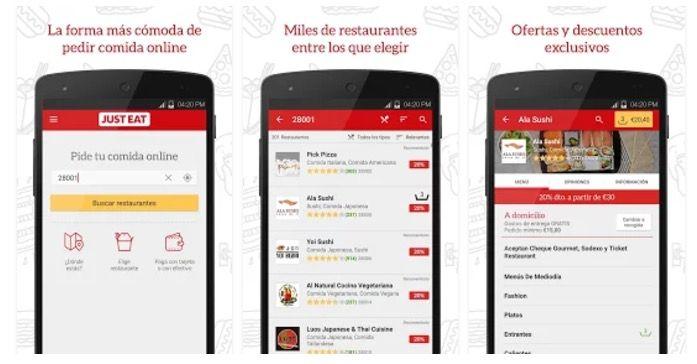 app pedir comida domicilio