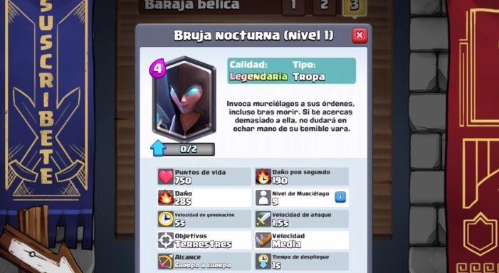 bruja clash royale nuevas cartas 2017