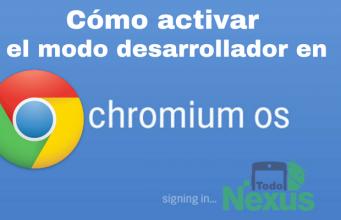 cómo activar el modo desarrollador en Chrome OS 2