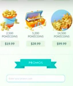 canjear códigos promocionales en Pokémon GO