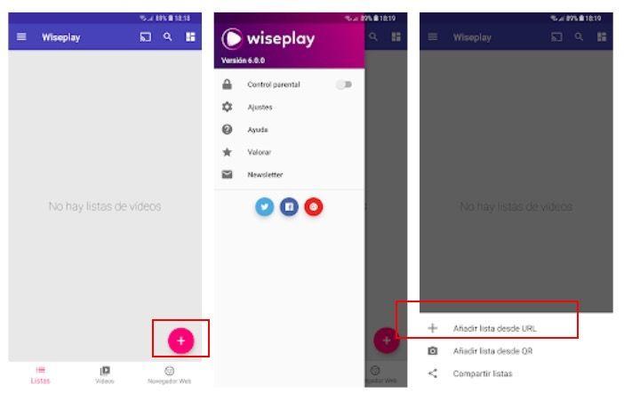 como cargar listas Wiseplay 2018