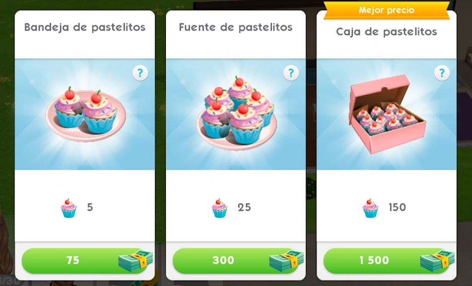 como conseguir pastelitos en Los Sims Movil