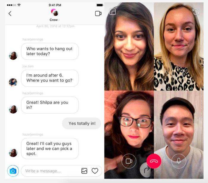 como hacer videollamadas en instagram