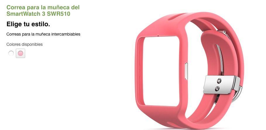 comprar correas sony smartwatch 3