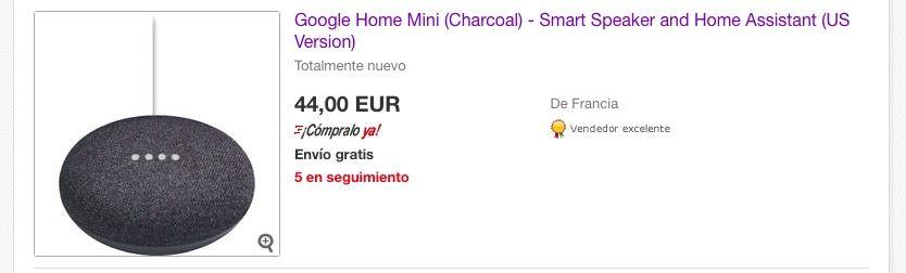 comprar el Google Home Mini desde España