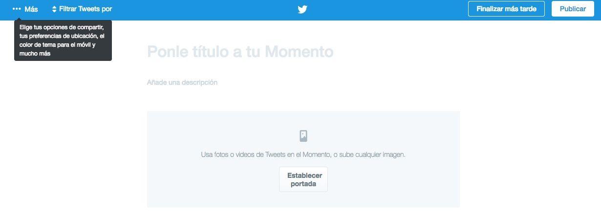 crear momentos en twitter