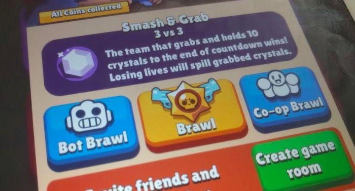 crear sala de juego brawl stars