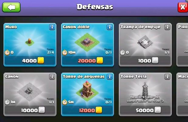 defensas base constructor coc