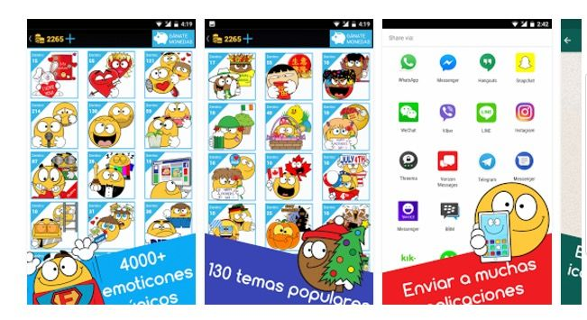 descargar emoticones para Facebook y WhatsApp gratis