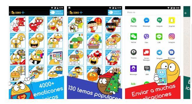 descargar emoticones para Facebook y WhatsApp gratis