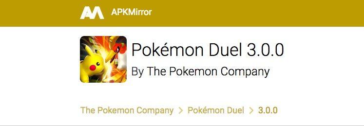 descargar pokemon duel apk