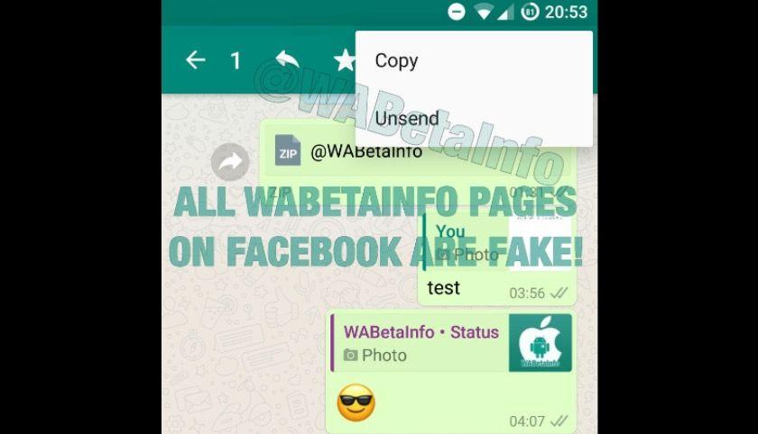 eliminar los mensajes enviados de WhatsApp en Android