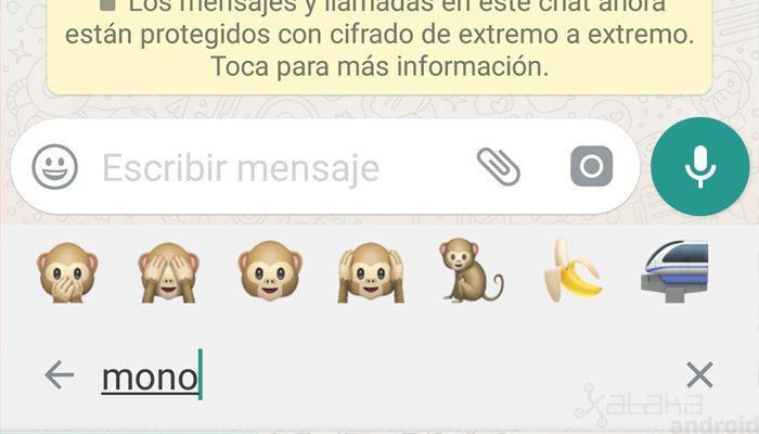 Cómo buscar emoticonos en WhatsApp Android