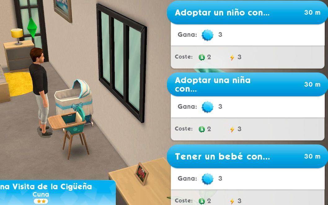 etapas de vida Bebe, infante y nino en Los Sims Movil