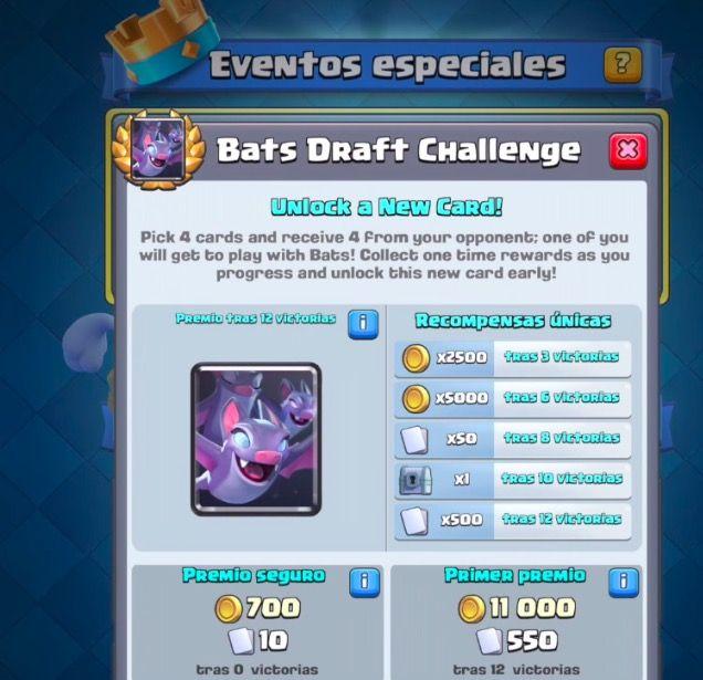 evento especial murcielagos clash royale