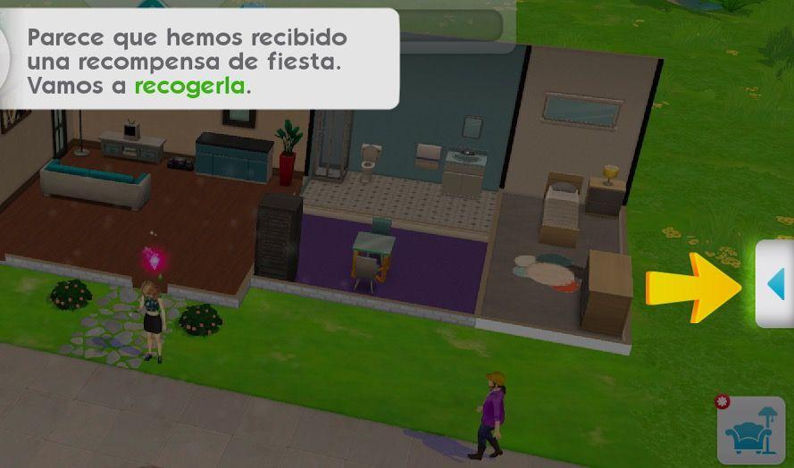 Acabar una fiesta en Los Sims Móvil