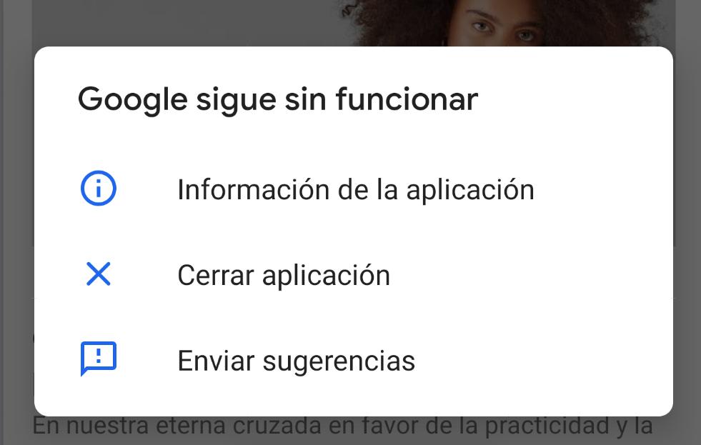 google sigue sin funcionar android solucion