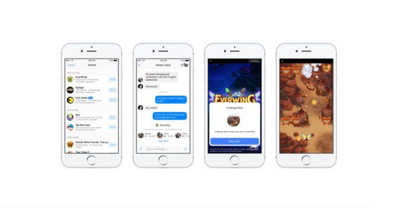jugar a los juegos de Facebook Messenger