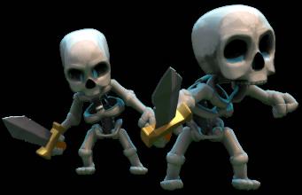 mejores mazos misiones esqueletos clash royale
