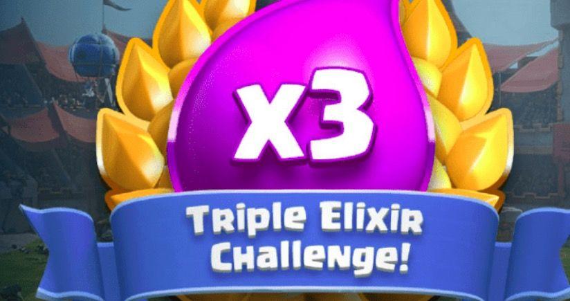 mejores mazos para el desafío de triple elixir de Clash Roy