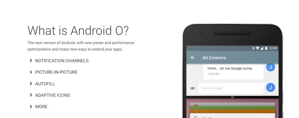 novedades android o