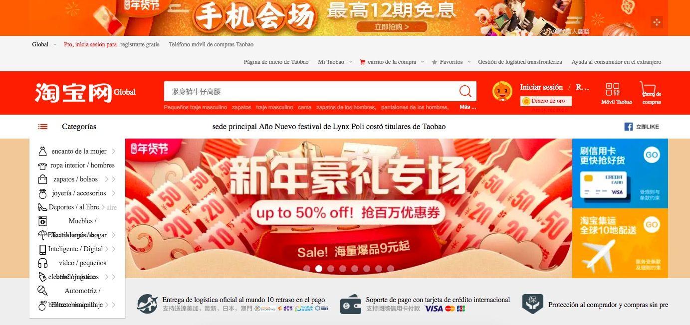 paginas parecidas a aliexpress TaoBao