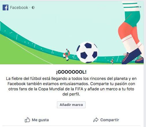 Cómo poner el marco por el Mundial de Rusia en Facebook