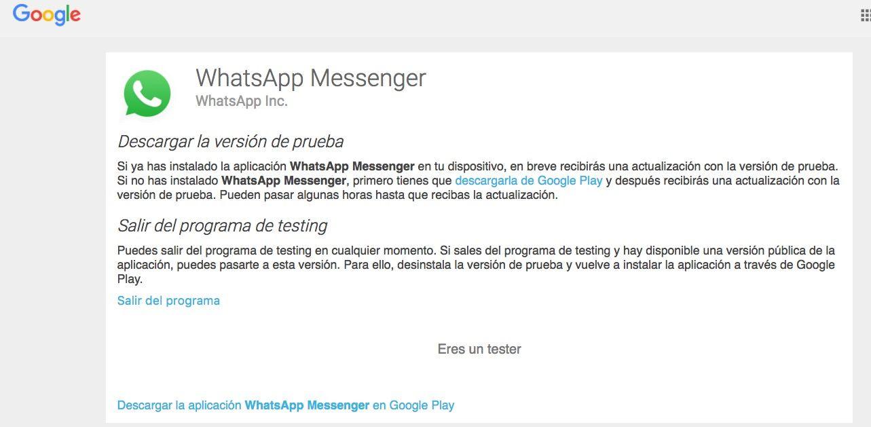 programa betas whatsapp