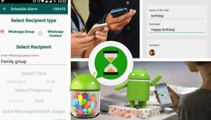 programar mensajes en WhatsApp sin root