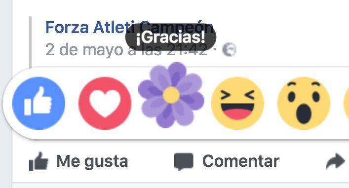 reaccion flor morada facebook gracias