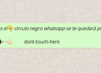 significado circulo negro whatsapp dont touch here