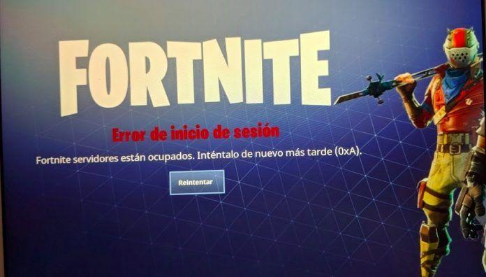 Error de inicio de sesión en Fortnite
