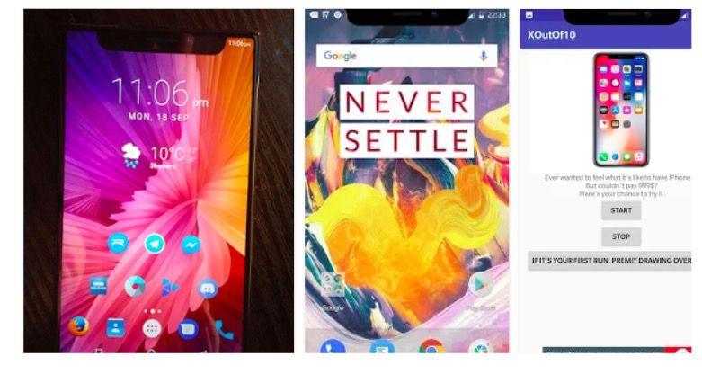 tener la barra del iPhone X en Android