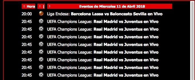 ver Real Madrid vs Juventus online y gratis y sin cortes