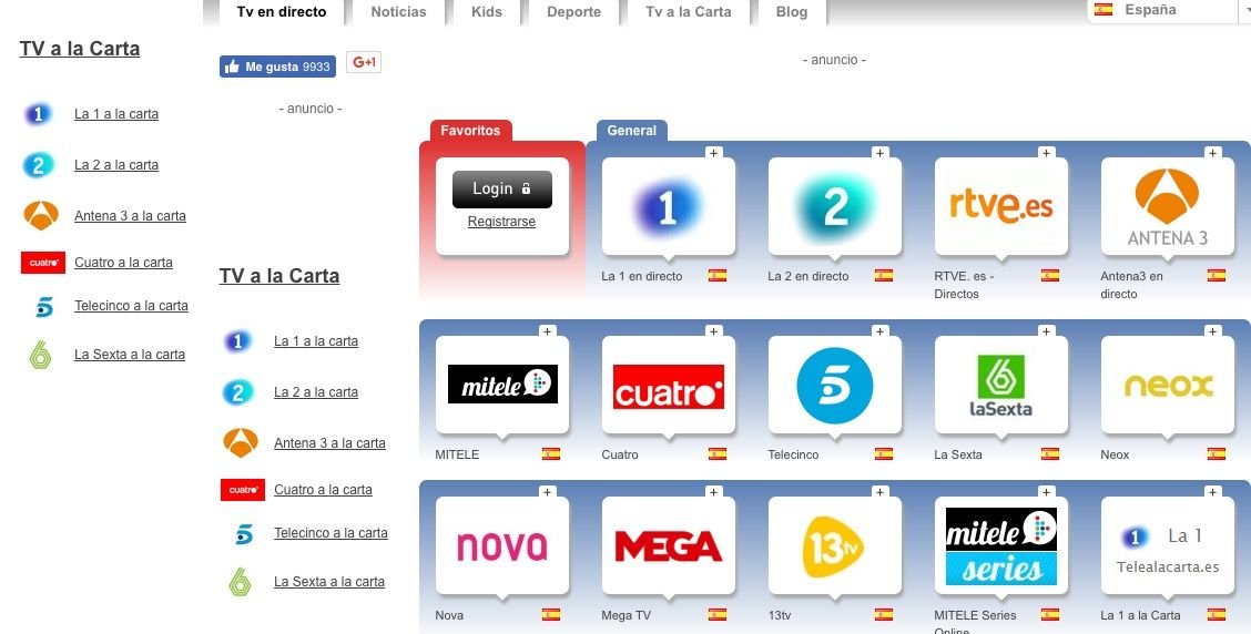 ver tv online gratis espanol